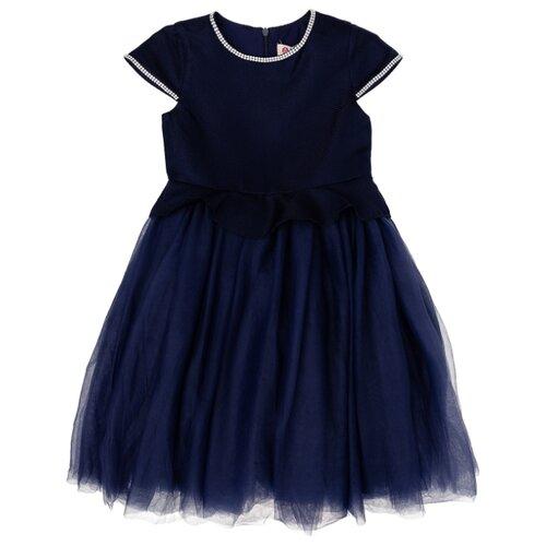 Купить Платье Button Blue размер 122, синий, Платья и сарафаны