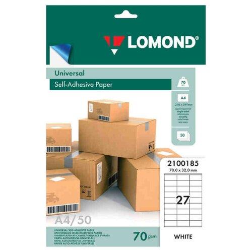 Бумага Lomond A4 2100185 70 г/м² 50 лист. белый 1 шт.
