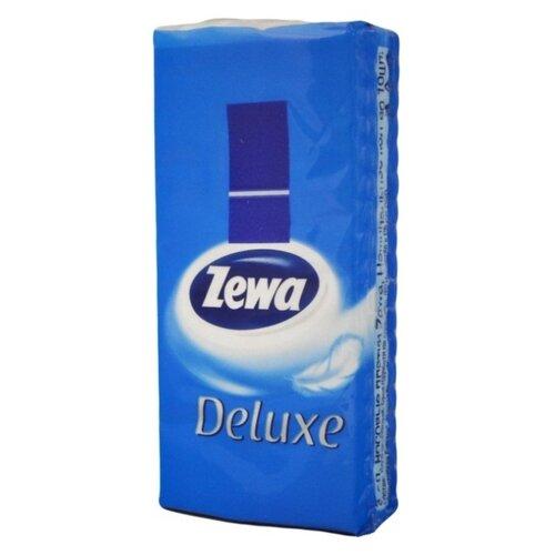 Платочки Zewa Deluxe бумажные носовые, 3 слоя 21 х 21 см, 10 шт.