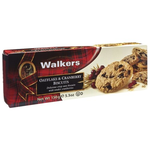 Печенье Walkers Oatflake & Cranberry Biscuits 150 г печенье песочное треугольнички walkers 170 г