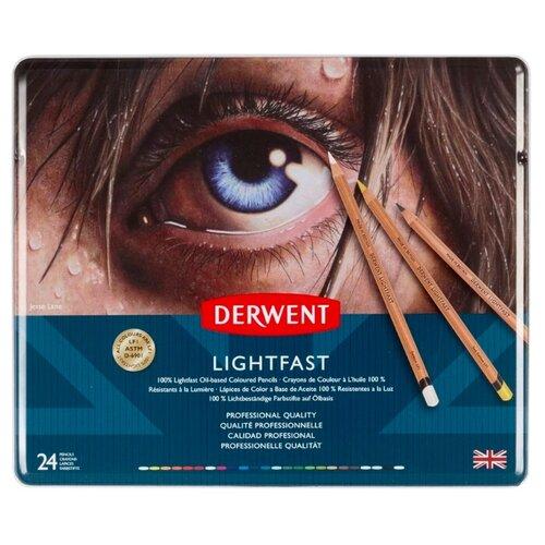 Купить Derwent Цветные карандаши Lightfast 24 цвета (D-2302720)