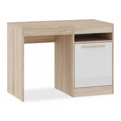 Письменный стол NK-MEBEL Оксфорд, ШхГ: 105х55 см, расположение тумбы: справа, цвет: дуб сонома