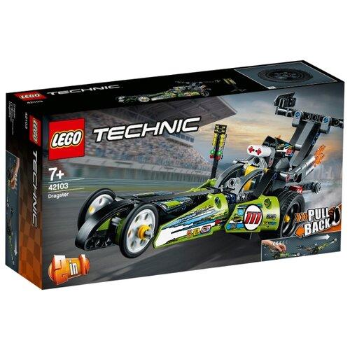Конструктор LEGO Technic 42103 Драгстер lego конструктор lego technic 42080 лесозаготовительная машина