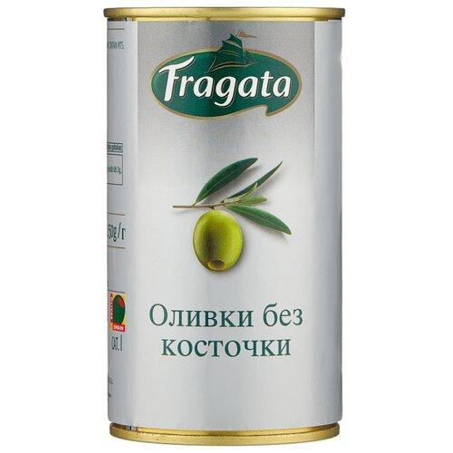 Fragata Оливки без косточки, жестяная банка 350 г acorsa оливки фаршированные анчоусом жестяная банка 350 г