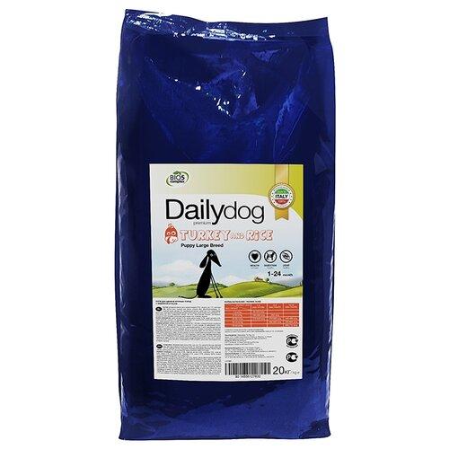 Фото - Сухой корм для щенков DailyDog индейка, с рисом 20 кг (для крупных пород) сухой корм для щенков savarra индейка с рисом 3 кг