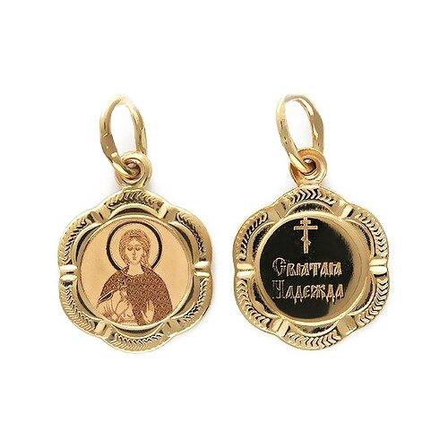 Фото - Эстет Подвеска-иконка Святая Надежда из красного золота 01П011254 подвеска иконка святая фотина из красного золота
