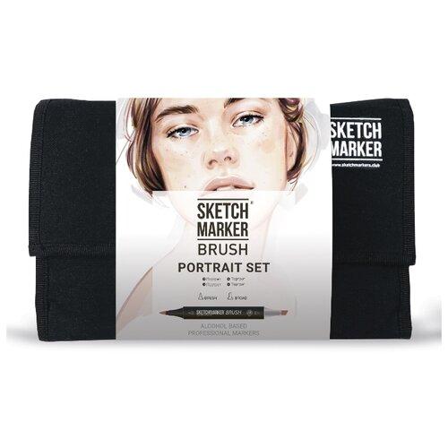 Купить SketchMarker Набор маркеров Brush Portrait Set, 24 шт., Фломастеры и маркеры