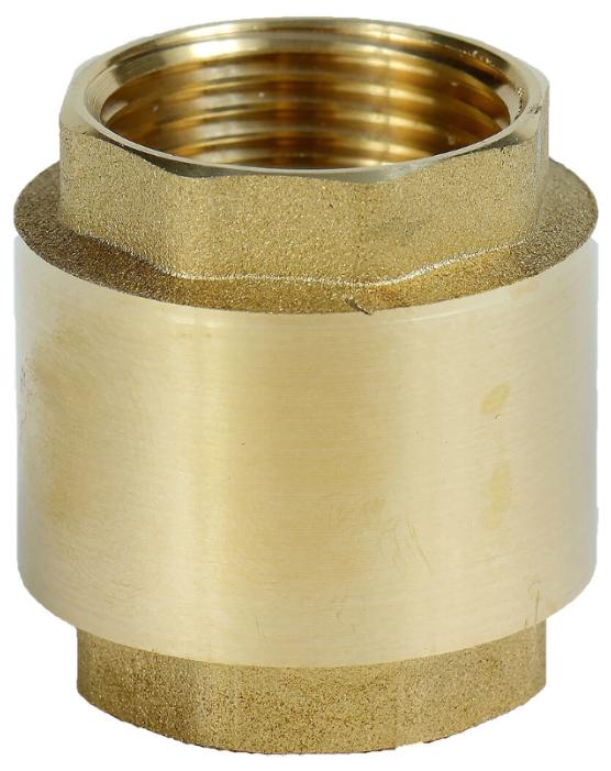 Обратный клапан пружинный AquamotoR AR111002 муфтовый (ВР/ВР), латунь