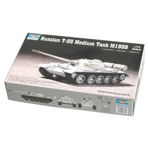 Сборная модель Trumpeter Russian T-55 Medium Tank M1958 (07282) 1:72 realts trumpeter 01034 1 35 russian kamaz 4310 truck