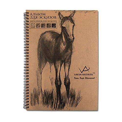 Купить Альбом для эскизов Vista-Artista 29.7 х 21 см (A4), 80 г/м², 50 л., Альбомы для рисования