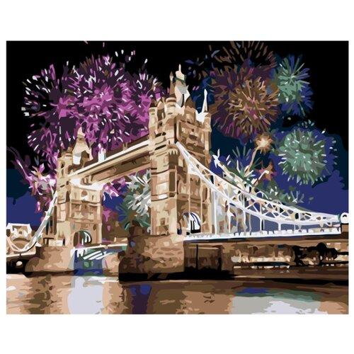 Праздничный Лондон Раскраска по номерам на холсте Живопись по номерам KTMK-78797 40х50 дальние странствия раскраска по номерам на холсте живопись по номерам ktmk 96447 40х50