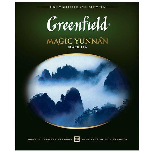 Чай черный Greenfield Magic Yunnan в пакетиках, 100 шт. чай зеленый императорский чай collection china yunnan в пакетиках 500 шт