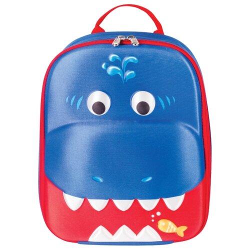 Купить BRAUBERG Рюкзак Акула (227065), синий/красный, Рюкзаки, ранцы
