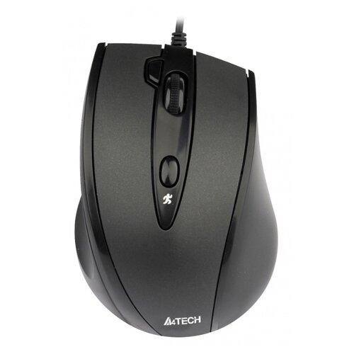 Мышь A4Tech N-770FX Black USB черный 2 мышь a4tech n 360 2 black red