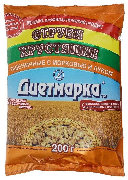 Отруби ДиетМарка пшеничные лук и морковь, 200 г