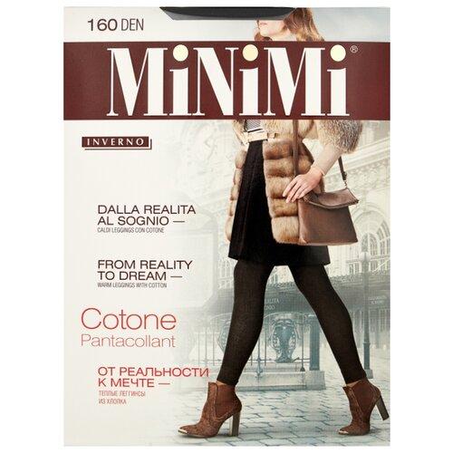 Леггинсы MiNiMi Pantacollant Cotone 160 den, размер 5-XL, nero (черный) filodoro deluxe pantacollant леггинсы цвет nero размер s m