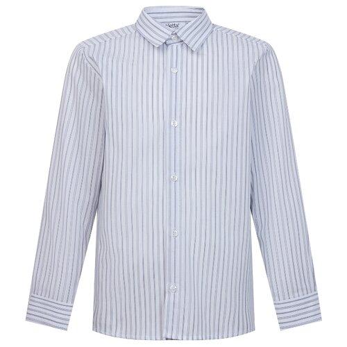 Рубашка Aletta размер 174, белый/голубой