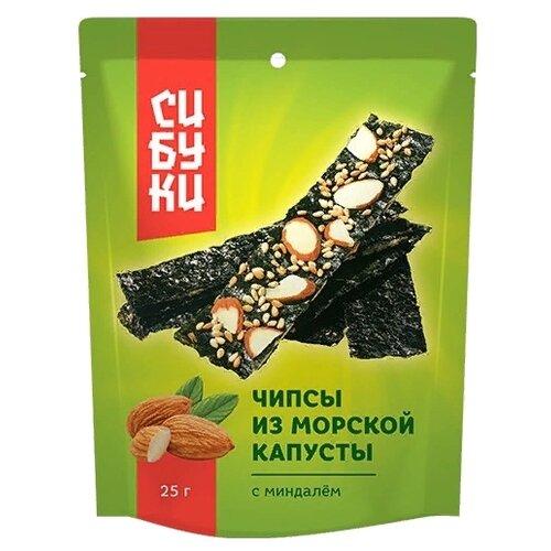 Чипсы Сибуки из морской капусты с миндалем, 25 г