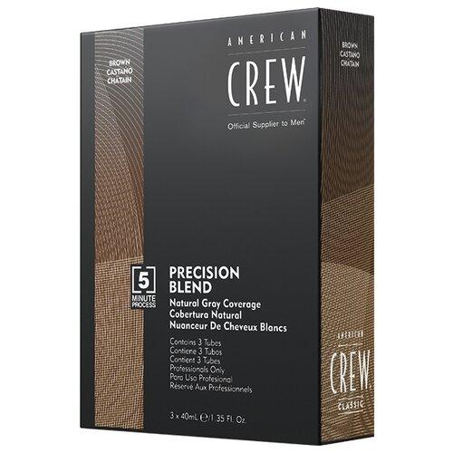 Купить American Crew Precision Blend краска-камуфляж для седых волос, 4/5 натуральный