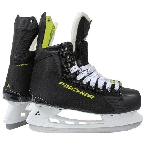 Детские хоккейные коньки Fischer CT250 JR (18-19) для мальчиков, черный/желтый р. 36