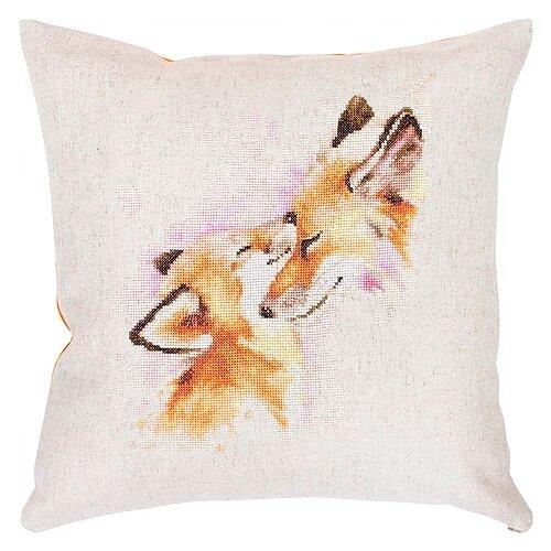Фото - Luca-S Набор для вышивания подушки Лисичкина любовь, 40 х 40 см, PB 163 luca s набор для вышивания щенок 8 х 10 см b088