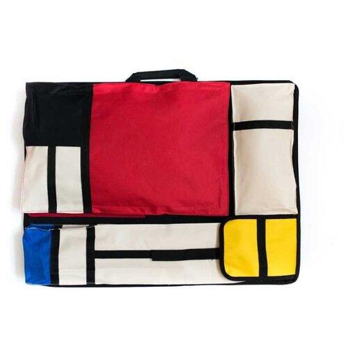 Сумка художника Малевичъ Авангард (195089) красный/белый/желтый малевичъ скетч сумка для художника малевичъ 36х46 см