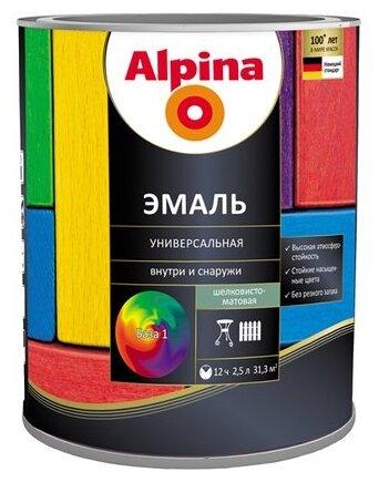 Эмаль универсальная Б1 ALPINA матовая 2,5 л