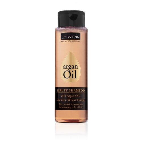 Купить LORVENN шампунь Exotic Oil Beauty для волос с аргановым маслом, алоэ вера и протеинами пшеницы 300 мл