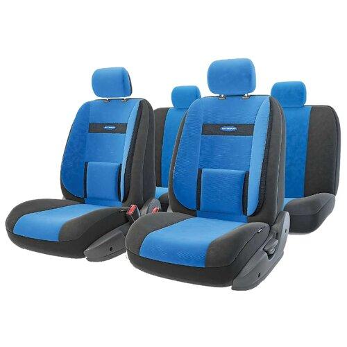 цена на Комплект чехлов AUTOPROFI COM-1105 черный/синий