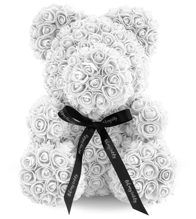 Kani Мишка из роз, 40 см белый