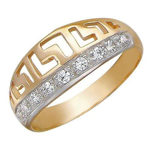 Эстет Кольцо с 9 фианитами из красного золота 01К111812, размер 18