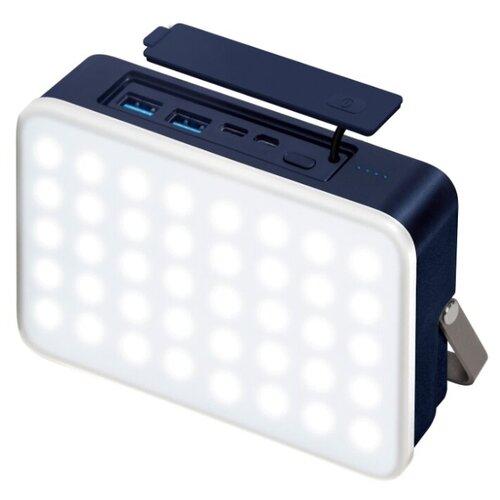 Купить Аккумулятор INTERSTEP PB24LED 24000мАч + солнечное ЗУ синий/белый/черный