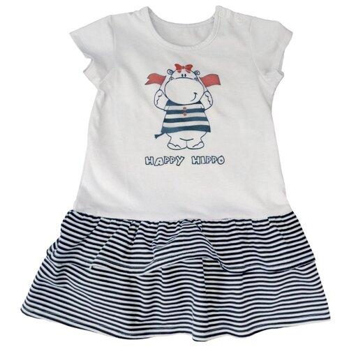 Платье Наша мама размер 86, белый/синий платье oodji ultra цвет красный белый 14001071 13 46148 4512s размер xs 42 170