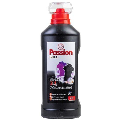 Гель Passion Gold Black 3 в 1 для черного и темного белья, 2 л, бутылка
