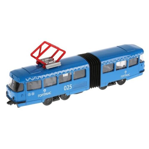 цена на Трамвай ТЕХНОПАРК SB-18-01-BL-WB(NO IC) 19 см синий