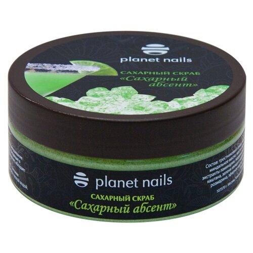 Planet nails Скраб для тела Сахарный абсент, 170 г жемчужины для маникюра planet nails ваниль 250 г