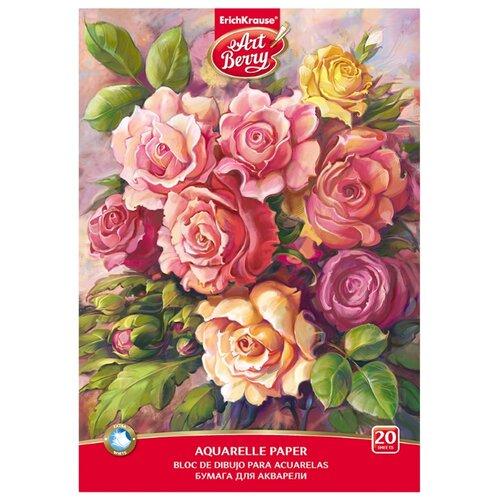 Купить Альбом для акварели ErichKrause ArtBerry® Розы 29.7 х 21 см (A4), 180 г/м², 20 л., Альбомы для рисования
