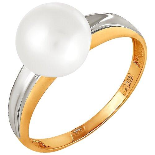 Фото - ПримаЭксклюзив Кольцо с 1 жемчугом из красного золота 190-1-595Р, размер 17 примаэксклюзив кольцо с 1 жемчугом из красного золота 190 1 921р размер 17