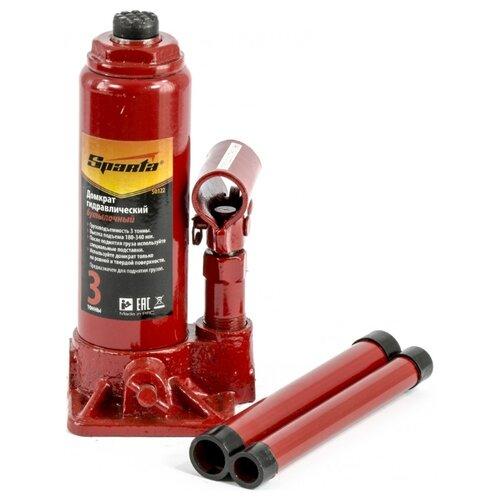 Домкрат бутылочный гидравлический Sparta 50322 (3 т) красный