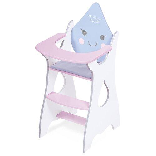 Купить DeCuevas Стульчик для кормления Мартин (55429) белый/розовый/голубой, Мебель для кукол