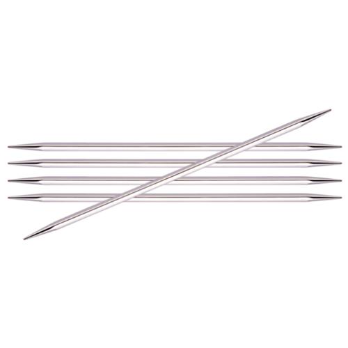 Купить Спицы Knit Pro Nova cubics 12126, диаметр 3.2 мм, длина 20 см, серебристый