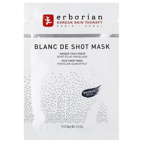 Erborian Тканевая маска Blanc De Shot Mask для сияния кожи, 15 г вино sauvignon blanc culemborg 2014 г