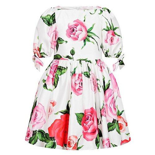 Платье David Charles размер 128, кремовый/цветочный принт