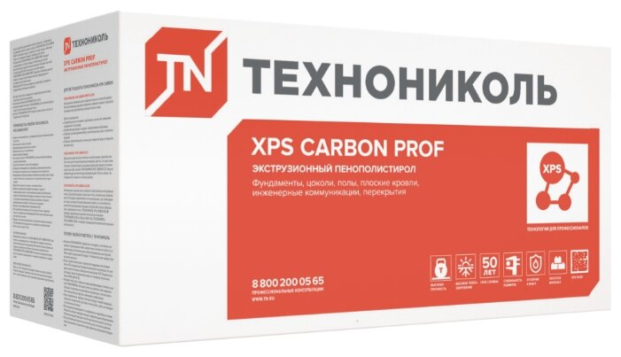 Экструдированный пенополистирол (XPS) Технониколь CARBON PROF 250 RF 118х58см 60мм