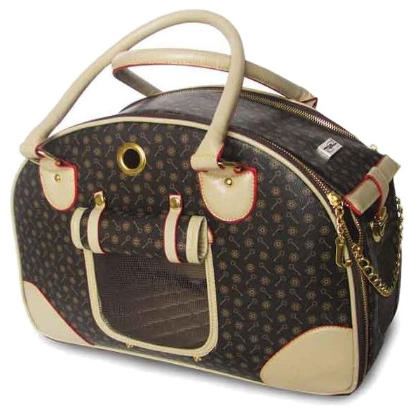 Переноска-сумка для собак Triol TB-03 42х18х29 см бежевый/коричневый