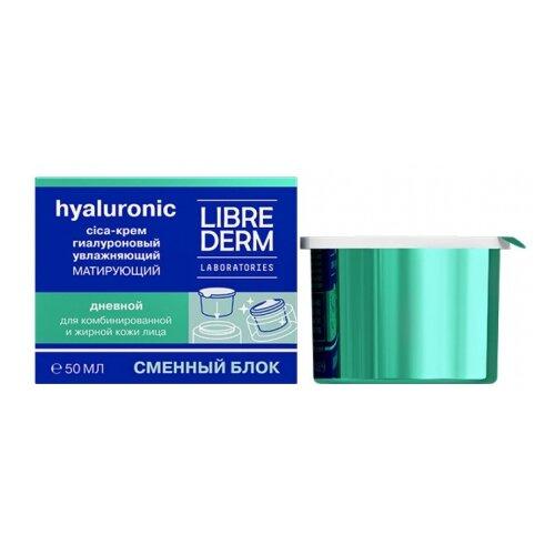 Купить Librederm Hyaluronic Moisturizing Mattifying Day Cica-Cream for Oily Skin Гиалуроновый дневной cica-крем для лица увлажняющий матирующий для жирной кожи (сменный блок), 50 мл