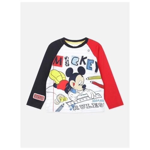 Лонгслив playToday размер 92, красный/белый/темно-синий платье для девочки lucky child романтик цвет белый красный темно синий 18 61 размер 86 92 2 года
