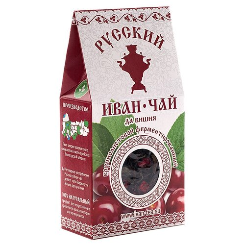 Чай травяной Русский иван-чай да вишня , 50 г фото