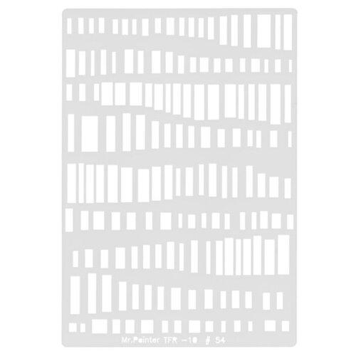 Купить Трафарет для скрапбукинга Mr. Painter Клавиши TFR-10 серый, Инструменты и аксессуары