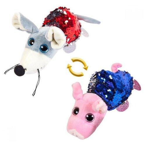 Купить Мягкая игрушка ABtoys Вывернушка Свинка-Мышка 16 см, Мягкие игрушки